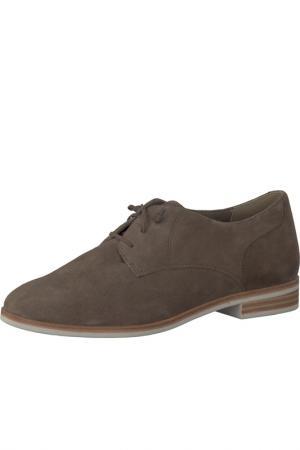Полуботинки на шнурках Tamaris. Цвет: коричневый