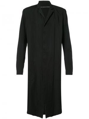 Пальто с принтом Nude. Цвет: чёрный