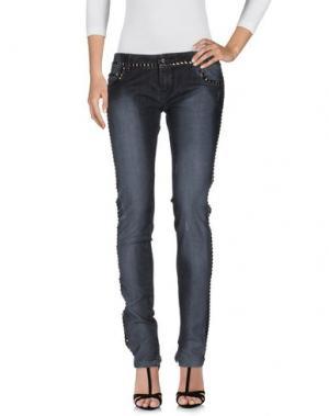 Джинсовые брюки SHI 4. Цвет: стальной серый