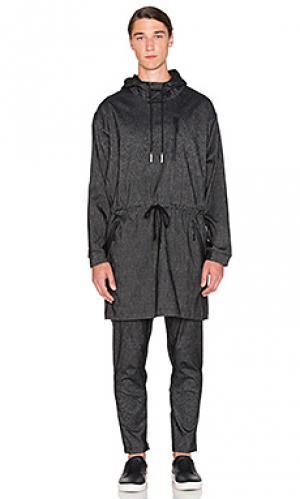 Куртка-пончо tamu Brandblack. Цвет: уголь
