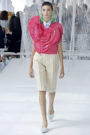 Хлопковая блузка Delpozo. Цвет: размер соответствует стандарту