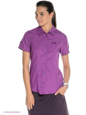 Рубашка BEYOND SHIRT W Jack Wolfskin. Цвет: фиолетовый