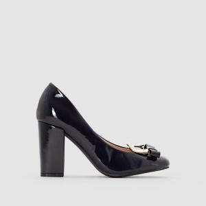 Туфли-лодочки лакированные с пряжкой MADEMOISELLE R. Цвет: синий,черный