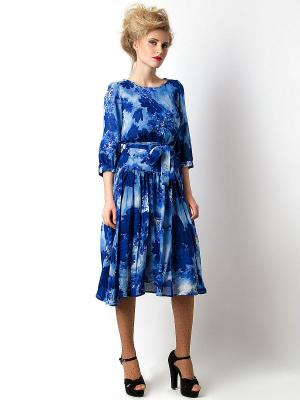 Платье Vika Smolyanitskaya. Цвет: синий, голубой
