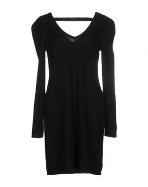 Короткое платье QI CASHMERE. Цвет: черный