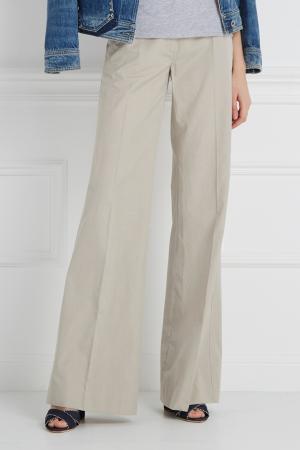 Однотонные брюки Maurizio Pecoraro. Цвет: серый