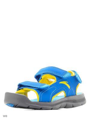 Сандалии ANTA. Цвет: желтый, серый, синий