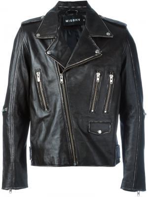 Байкерская куртка Vintage Drew Misbhv. Цвет: чёрный