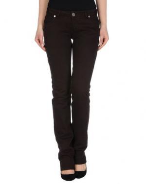 Джинсовые брюки NWY NEVER WITHOUT YOU. Цвет: темно-коричневый