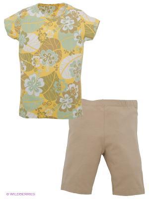 Комплект Lowry. Цвет: бежевый, желтый, белый, зеленый