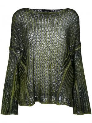 Джемпер крупной вязки Avant Toi. Цвет: зелёный
