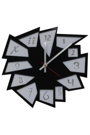 Часы Абстракция W-ERA. Цвет: белый, черный
