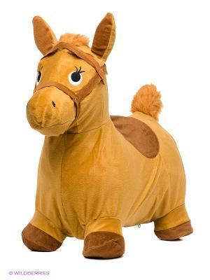 Лошадка-попрыгунчик Наша Игрушка. Цвет: бежевый