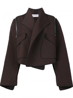 Куртка свободного кроя Maticevski. Цвет: коричневый