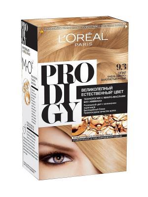 Краска для волос Prodigy без аммиака, оттенок 9.3, Опал L'Oreal Paris. Цвет: белый