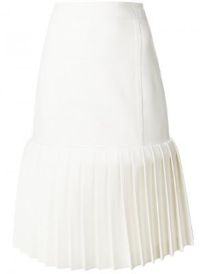 Юбка миди с плиссировкой Jacquemus. Цвет: белый