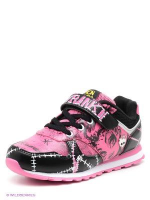 Кроссовки Kakadu. Цвет: розовый, черный