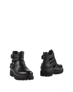 Полусапоги и высокие ботинки EMANUÉLLE VEE. Цвет: черный