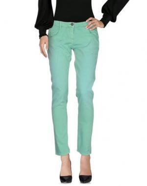 Повседневные брюки KRISTINA TI. Цвет: светло-зеленый