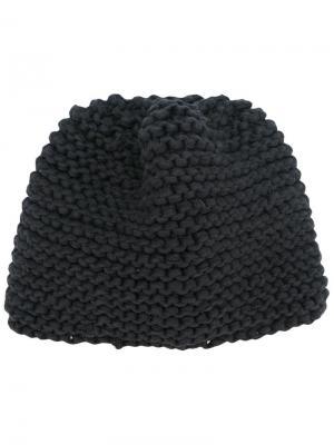 Вязаная шапка-бини Telfar. Цвет: чёрный