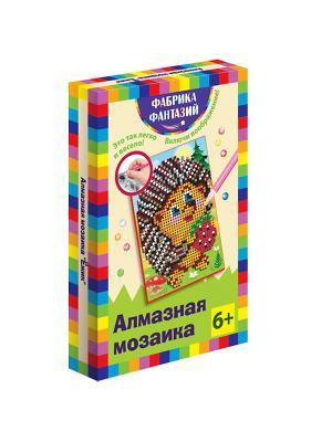 Алмазная мозаика Ёжик, размер 10х15 см Фабрика Фантазий. Цвет: зеленый, коричневый, светло-оранжевый, красный, белый