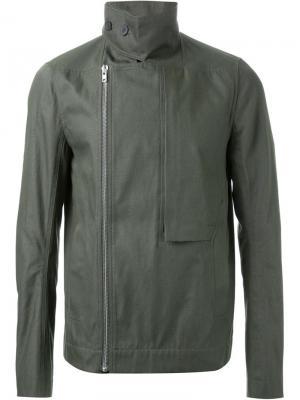 Байкерская куртка Rick Owens. Цвет: зелёный