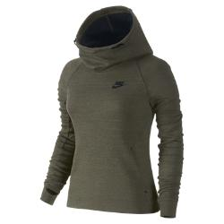 Женская худи  Tech Fleece Nike. Цвет: коричневый