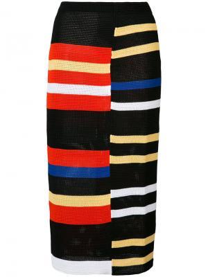 Полосатая юбка Proenza Schouler. Цвет: чёрный