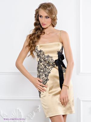 Платье BIRRIN. Цвет: золотистый