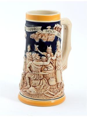 Пивная кружка коллекционная Лесной пир BURGER. Цвет: коричневый, оранжевый, темно-бежевый