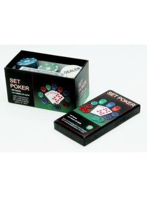 Набор фишек из пластика для покера Magic Home. Цвет: белый