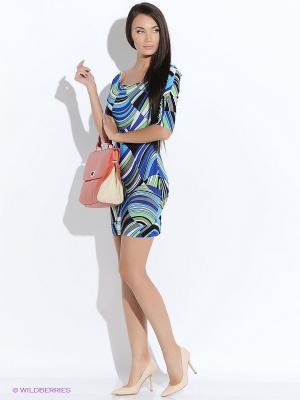 Платье Colambetta. Цвет: синий, зеленый, белый, черный