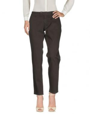 Повседневные брюки DUCK FARM. Цвет: стальной серый