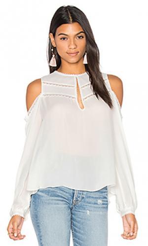 Блуза с открытыми плечами the fiona Haute Hippie. Цвет: белый