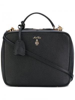 Прямоугольная сумка с логотипом Mark Cross. Цвет: чёрный