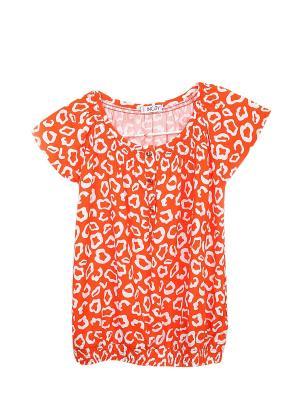 Блузка INCITY. Цвет: оранжевый