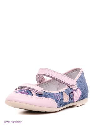 Туфли Flamingo. Цвет: розовый, синий