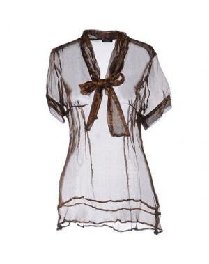 Блузка LIST. Цвет: темно-коричневый