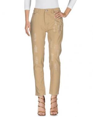 Джинсовые брюки PUBLISH. Цвет: песочный