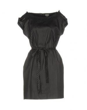 Короткое платье EDUN. Цвет: стальной серый