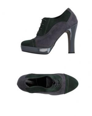 Обувь на шнурках ANNARITA N.. Цвет: изумрудно-зеленый
