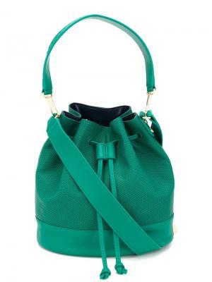 Сумка-мешок на плечо Elizabeth And James. Цвет: зелёный