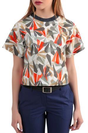 Блузка Энсо. Цвет: разноцветный