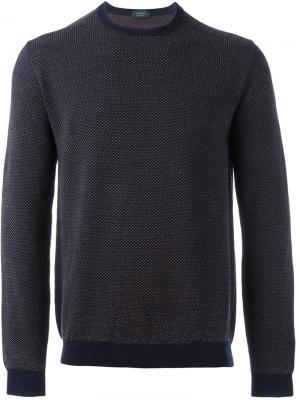 Свободный свитер Zanone. Цвет: синий
