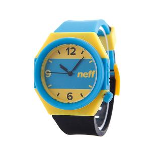 Часы  Stripe Cyan/Yellow/Black Neff