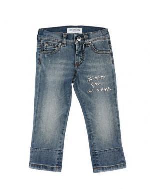 Джинсовые брюки SIMONETTA MINI. Цвет: синий