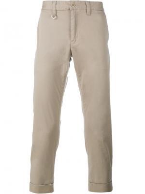 Укороченные брюки чинос Sophnet.. Цвет: телесный