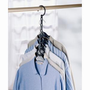 4 вешалки  Aréglo, для экономии места, галстуков/брюк/рубашек/ремней La Redoute Interieurs. Цвет: черный