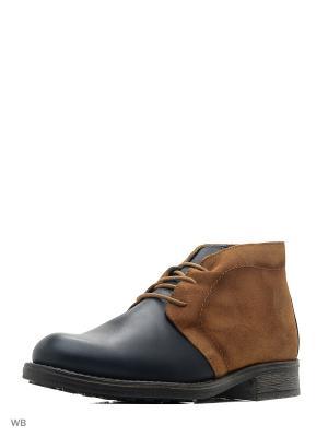 Ботинки Beppi. Цвет: темно-синий, желтый