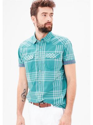 Рубашка S.OLIVER. Цвет: бирюзовый